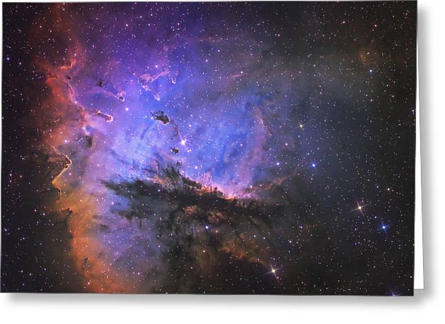 Colorful Cloud Formations Greeting Cards - Ngc 281, The Pacman Nebula Greeting Card by Don Goldman