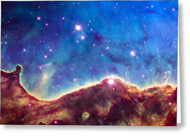 Nebula Greeting Cards - NGC 3324 Hubble Greeting Card by Space Art Pictures