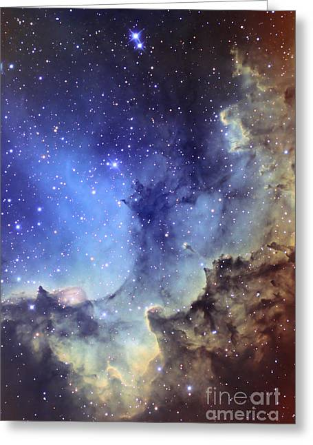 Interstellar Clouds Greeting Cards - Ngc 7380 Emission Nebula In Cepheus Greeting Card by Ken Crawford
