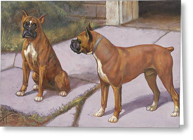 Dogs In Art Greeting Cards - Ngm194112_778-lo, Greeting Card by National Geographic