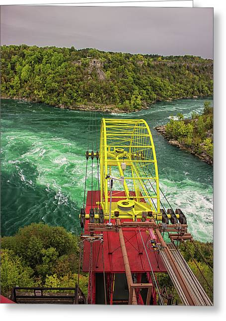 Niagara Cable Car Greeting Card by Martin Newman