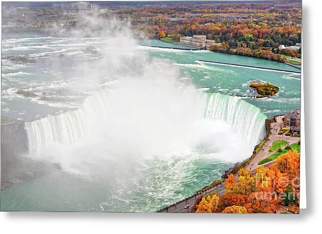 Niagara Greeting Cards - Niagara Falls Autumn Greeting Card by Charline Xia