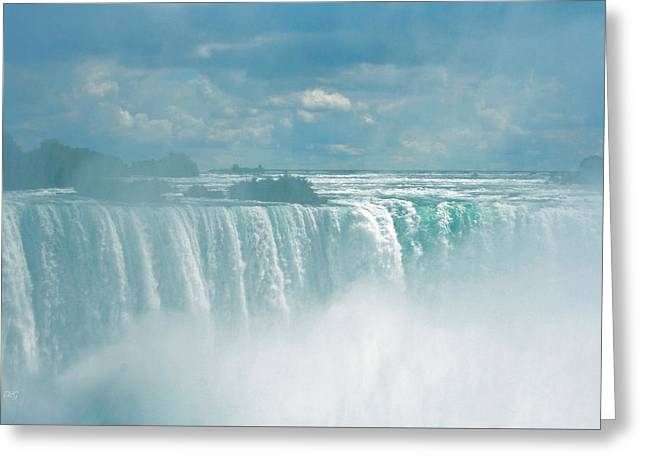 Turbulent Skies Greeting Cards - Niagara Falls In The Blue Mist Greeting Card by Ben and Raisa Gertsberg