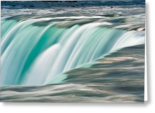Horseshoes Greeting Cards - Niagara Falls Number 2 Greeting Card by Steve Gadomski