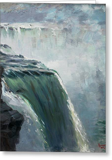Niagara Falls Greeting Cards - Niagara Falls NY Greeting Card by Ylli Haruni