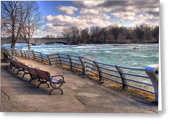Niagara River Greeting Cards - Niagara Rapids in Early Spring Greeting Card by Tammy Wetzel