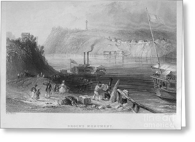 Niagara River, 1839 Greeting Card by Granger