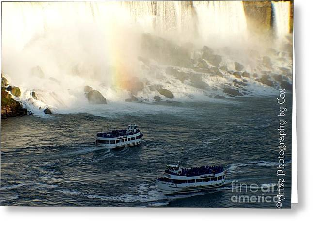 Niagra Falls Maid Of The Mist Boat Ride Greeting Card by Charlene Cox