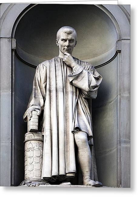 Ethics Greeting Cards - Niccolo Machiavelli, Political Theorist Greeting Card by Sheila Terry