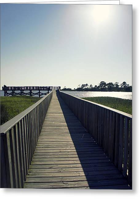 Cedar Key Greeting Cards - Nice Day For Fishing Greeting Card by Laurie Perry