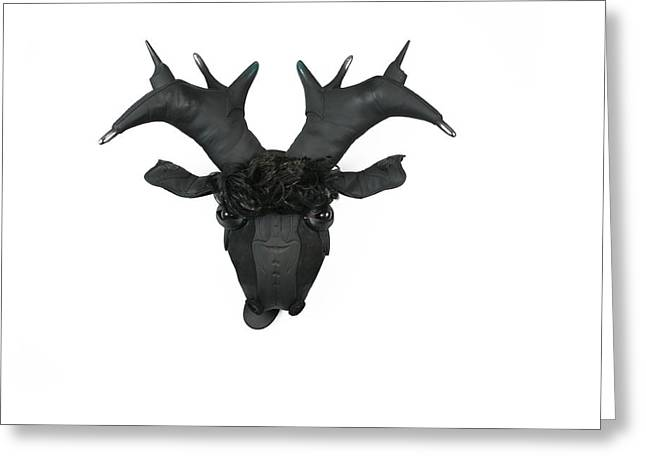 Believe Sculptures Greeting Cards - Nice Rack Greeting Card by Michael Jude Russo