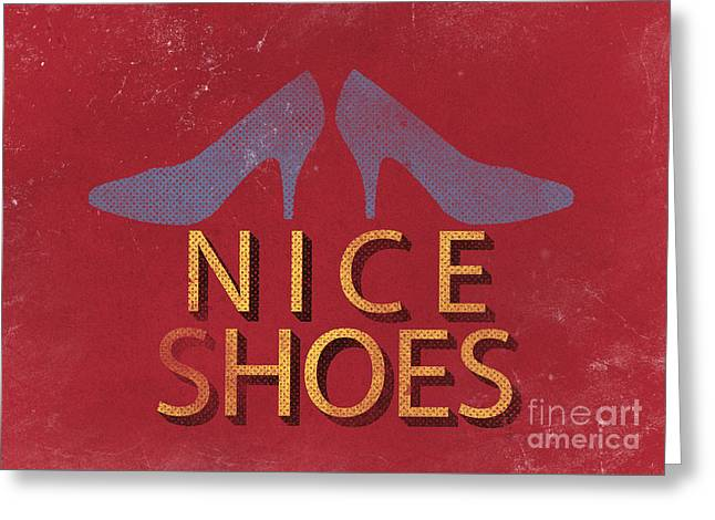Nice Shoes  Greeting Card by Edward Fielding