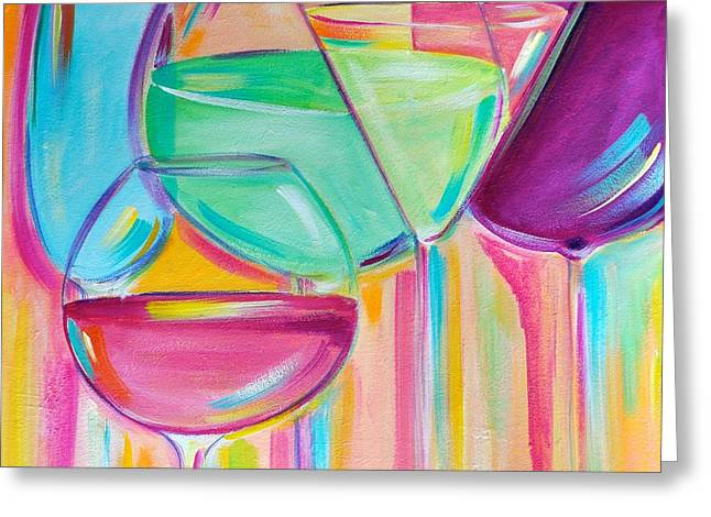 Lounge Paintings Greeting Cards - Nice Stems Greeting Card by Debi Starr