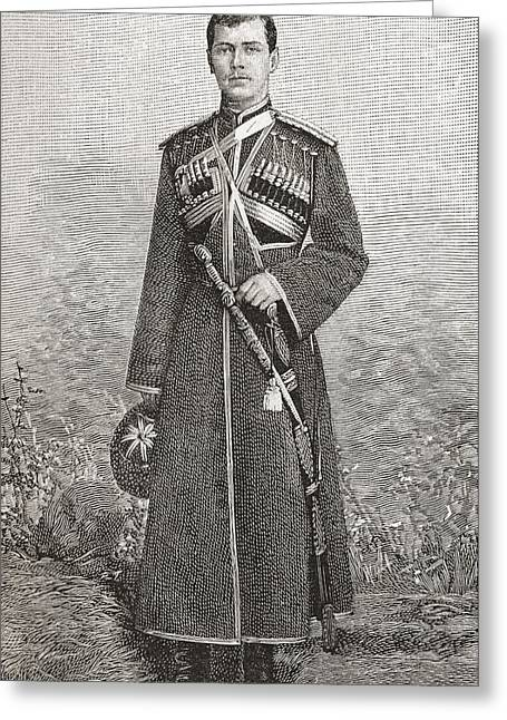 Nicholas Greeting Cards - Nicholas Ii, 1868 Greeting Card by Ken Welsh