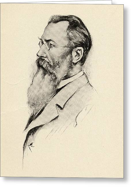 Nicholas Drawings Greeting Cards - Nicholas Rimsky-korsakoff,1844-1908 Greeting Card by Ken Welsh