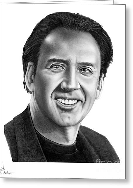 Nick Cage Greeting Card by Murphy Elliott