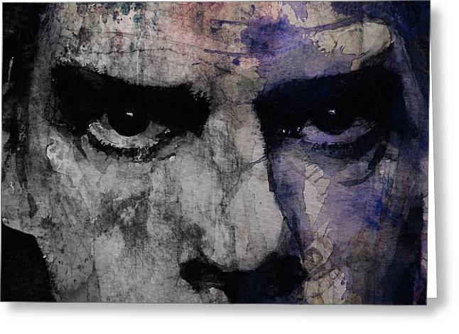 Singer Songwriter Greeting Cards - Nick Cave Retro Greeting Card by Paul Lovering