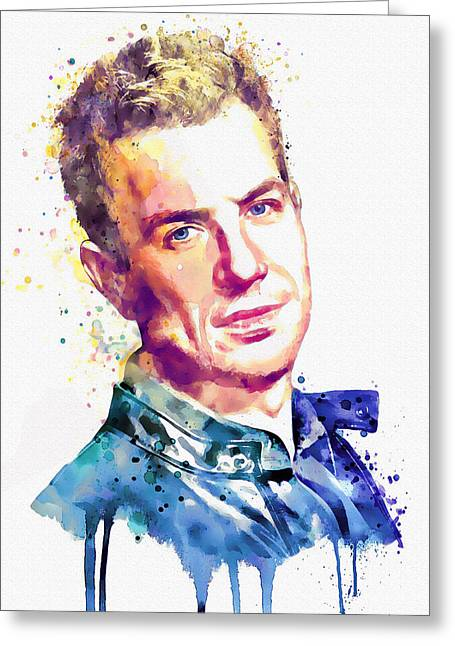 Wall-art Digital Art Greeting Cards - Nick Hexum of 311 Greeting Card by Marian Voicu