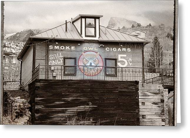 Nickel Cigars Greeting Card by Julie Palencia