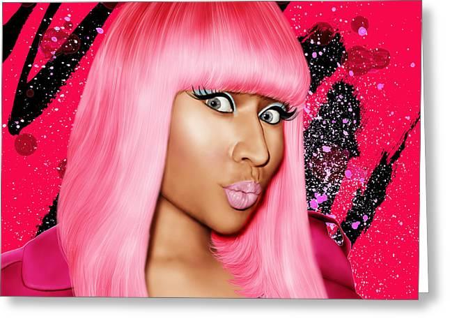 Barbie Greeting Cards - Nicki Minaj Greeting Card by Davonte Bailey