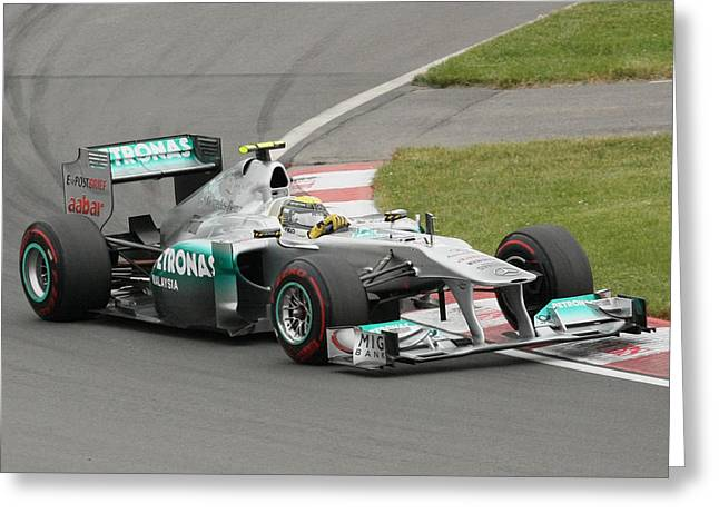 Canadian Grand Prix Greeting Cards - Nico Rossberg Greeting Card by Art Ferrier