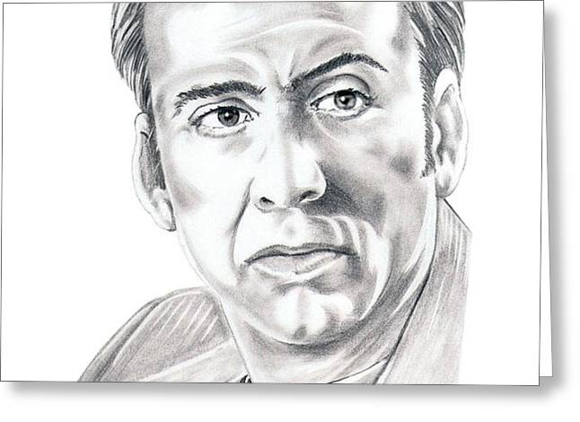 Nicolas Cage Greeting Card by Murphy Elliott