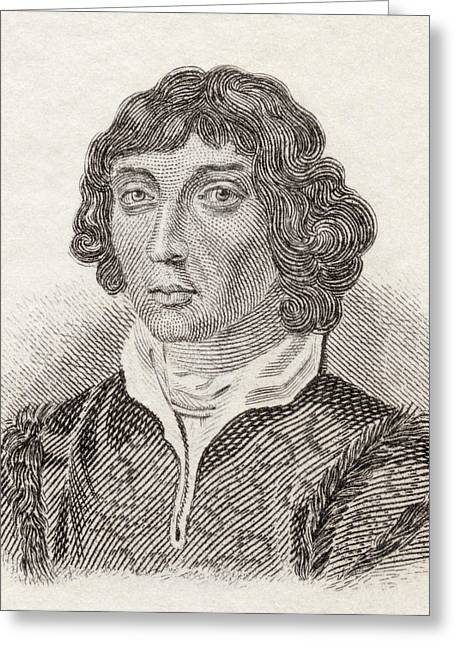 Nicholas Drawings Greeting Cards - Nicolaus Copernicus, 1473 To 1543 Greeting Card by Ken Welsh