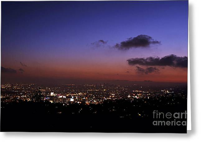 Clayton Greeting Cards - Night At Griffeth Observatory Greeting Card by Clayton Bruster