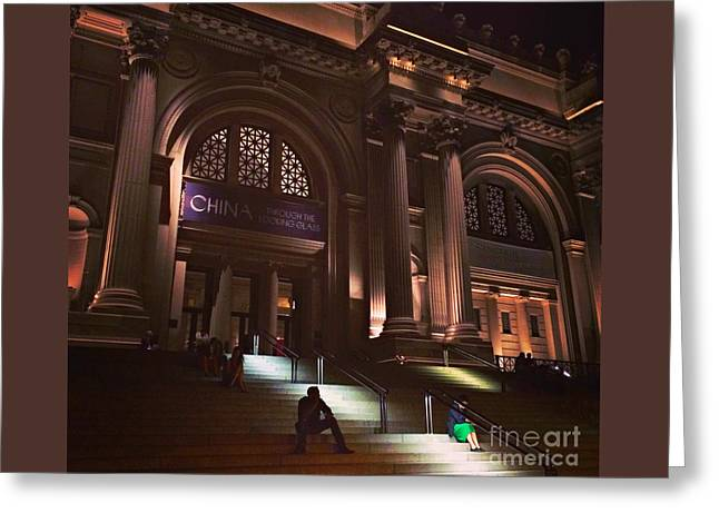 Famous Photographer Greeting Cards - Night at the Museum Greeting Card by Miriam Danar
