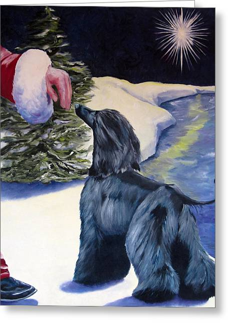 Sight Hound Greeting Cards - Night Before Xmas Greeting Card by Terry  Chacon