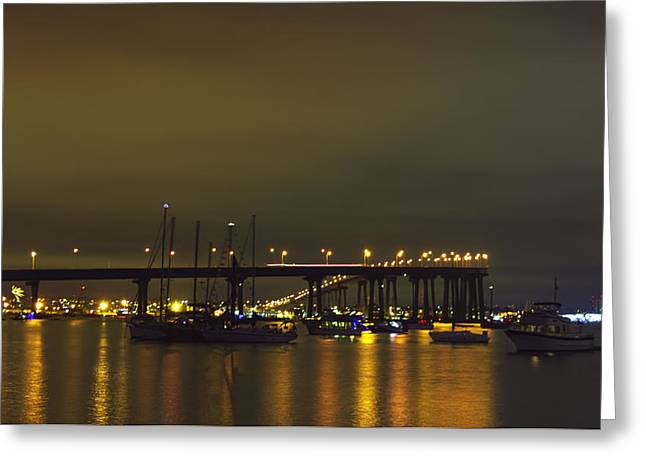 Souls Greeting Cards - Night Bridge Greeting Card by Phil Fitzgerald