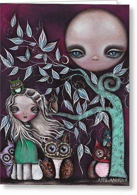 Night Creatures Greeting Card by  Abril Andrade Griffith