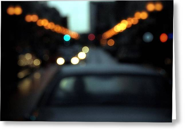 Modern Photographs Greeting Cards - Night Drive Greeting Card by Nicholas Bell