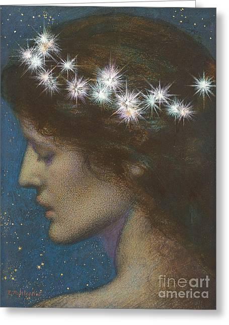 Night Greeting Card by Edward Robert Hughes