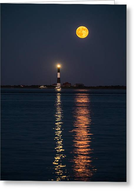 Moonrise Greeting Cards - Night Fall Moon Rise Greeting Card by Joseph Pellicone