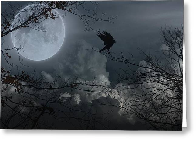 Clouds In Motion Greeting Cards - Night Fantasy Greeting Card by Gothicolors Donna Snyder