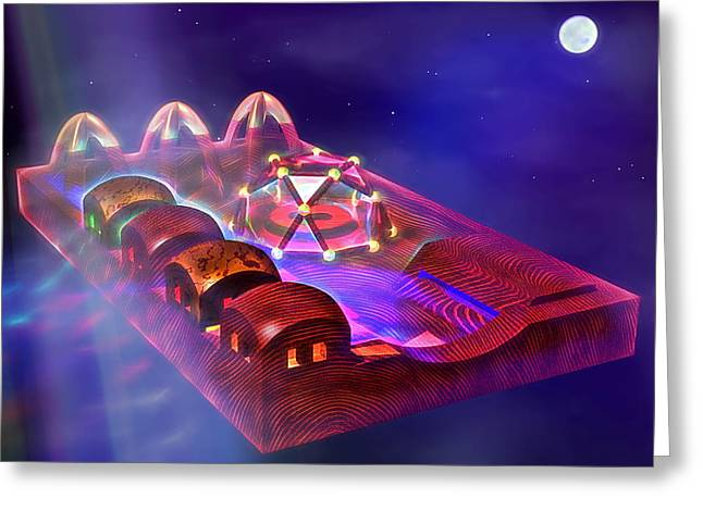 Intergalactic Space Greeting Cards - Night Flight Greeting Card by Andreas Thust