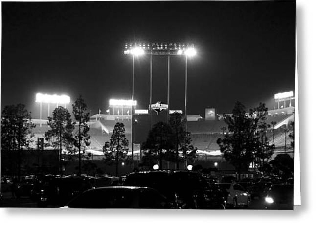 Night Game Greeting Card by Ricky Barnard