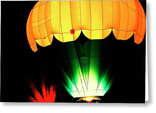 Rally Greeting Cards - Night Glow Greeting Card by David Patterson