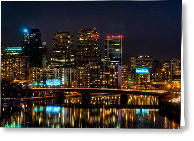 Night In The City Of Brotherly Love Greeting Card by Louis Dallara