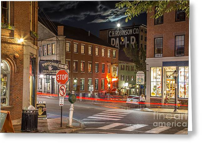 Night In The Old Port Greeting Card by Benjamin Williamson