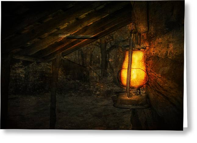Log Cabins Greeting Cards - Night is Falling Greeting Card by Jeff Mize