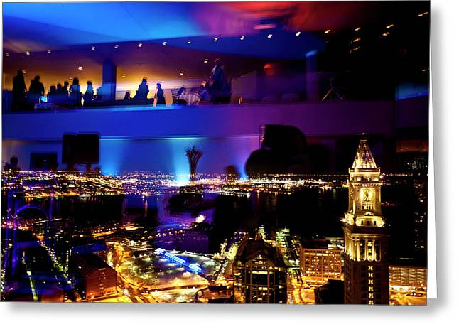Fund Raiser Greeting Cards - Night Life Greeting Card by Andrew Kubica