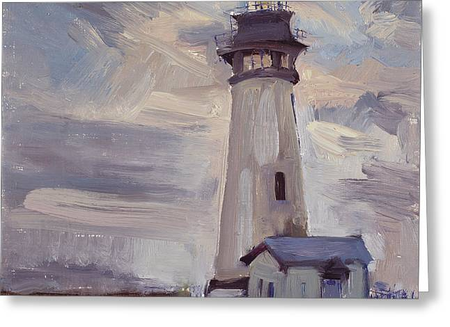 Top Seller Greeting Cards - Night Light at Tuillicum Light House Greeting Card by Julie Rumsey