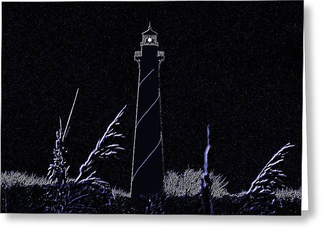 Al Powell Photog Greeting Cards - Night Light - Digital Art Greeting Card by Al Powell Photography USA