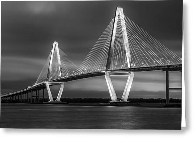 Ravenel Greeting Cards - Night Light Greeting Card by Mike Lang