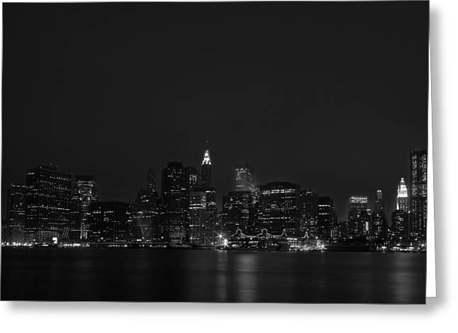 Citiscape Greeting Cards - Night Lights Greeting Card by Evelina Kremsdorf