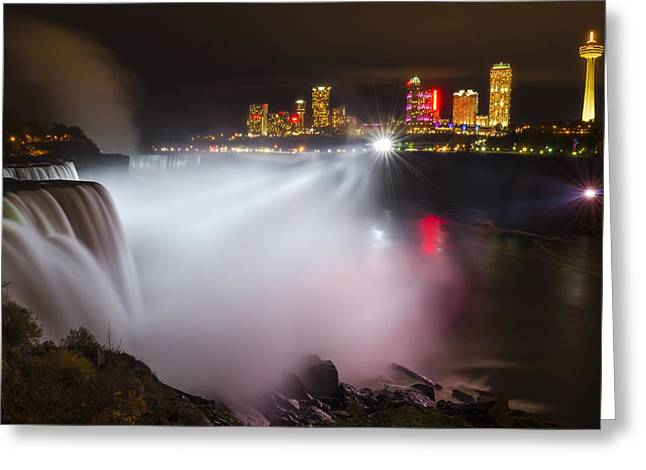Western Canada Landscape Art Greeting Cards - Night Lights Greeting Card by Mark Papke