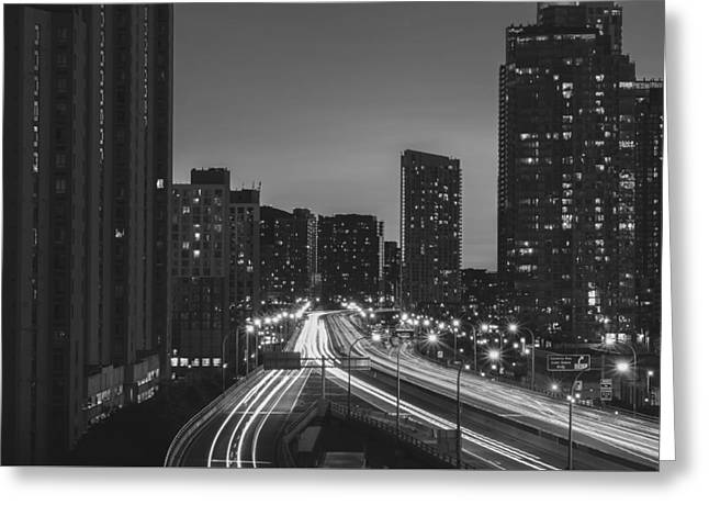 Road Travel Greeting Cards - Night Lights of Toronto Greeting Card by Verne Ho