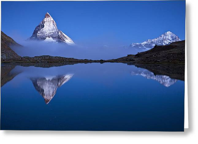 Mountain Reflection Greeting Cards - Night Mirror Greeting Card by Szabo Zsolt Andras